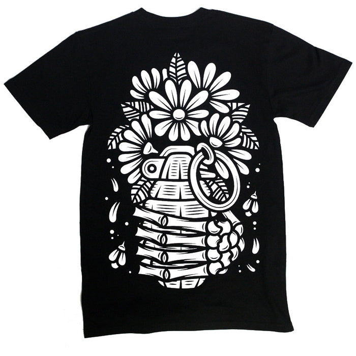 Flower Power Tee (Black)
