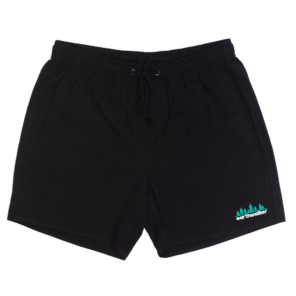 Earthwalker embroidered walk shorts (Black)
