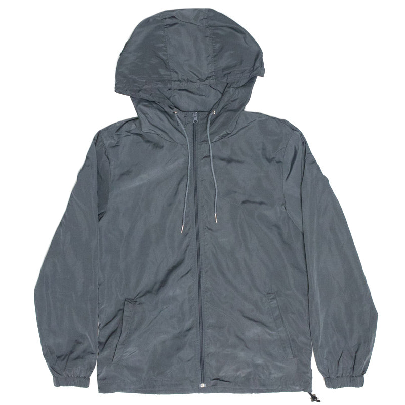 Zip Up Windbreaker (Grey)