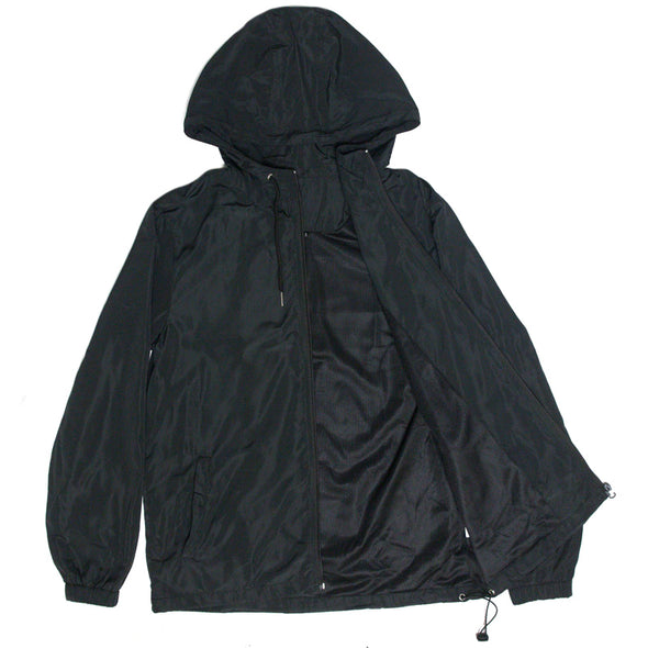 Zip Up Windbreaker (Black)