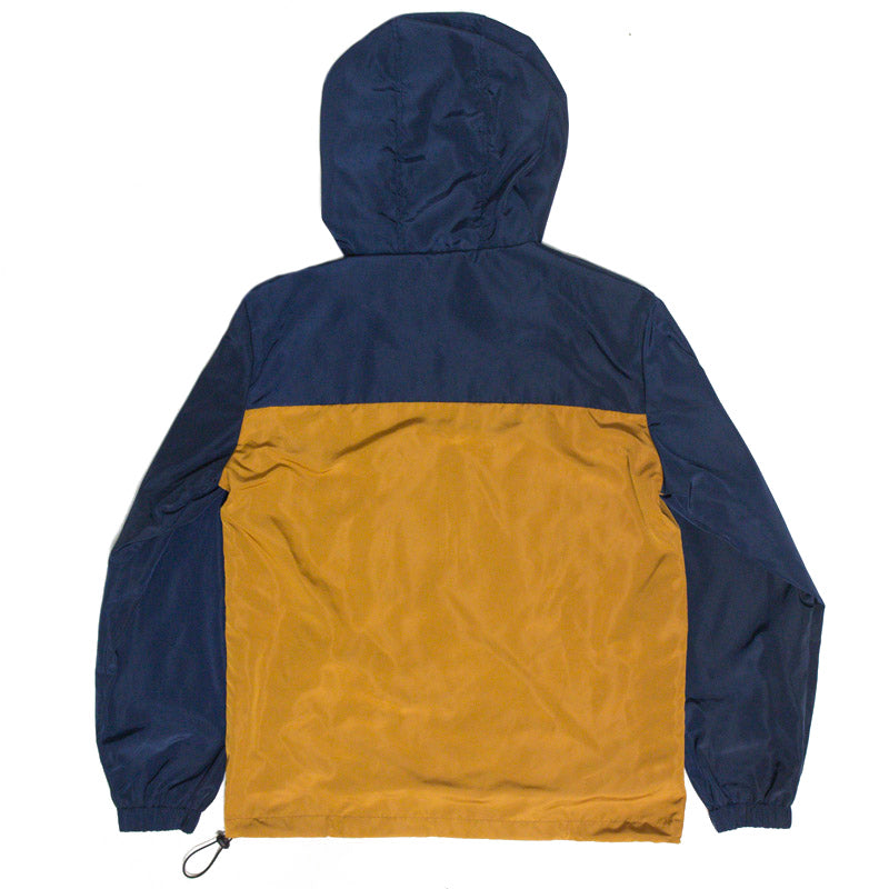 Zip Up Windbreaker (Navy/Tan)