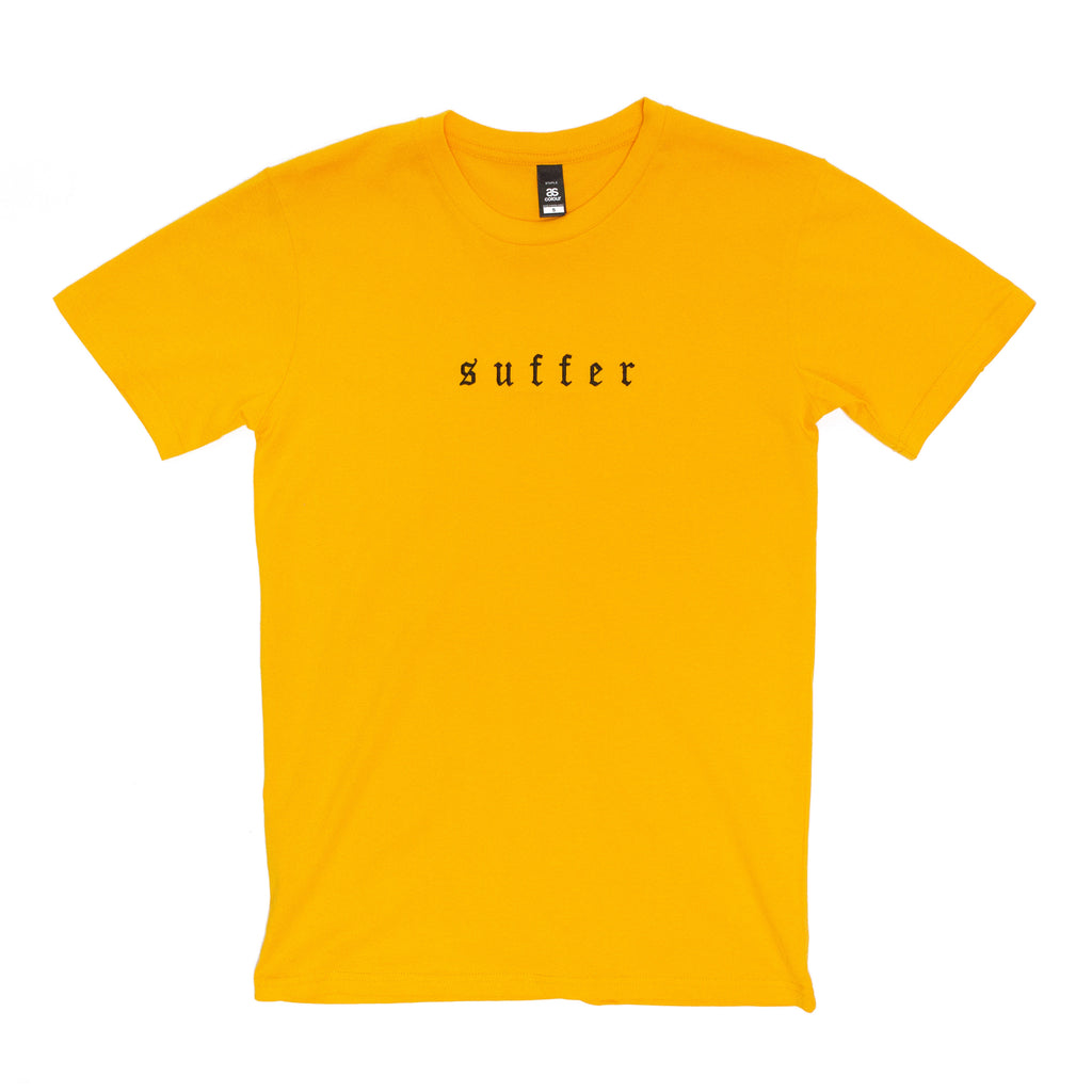 Suffer Embroidered Tee (Yellow)