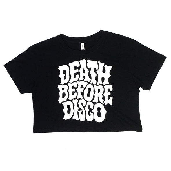 Death Before Disco Crop Top (Black)