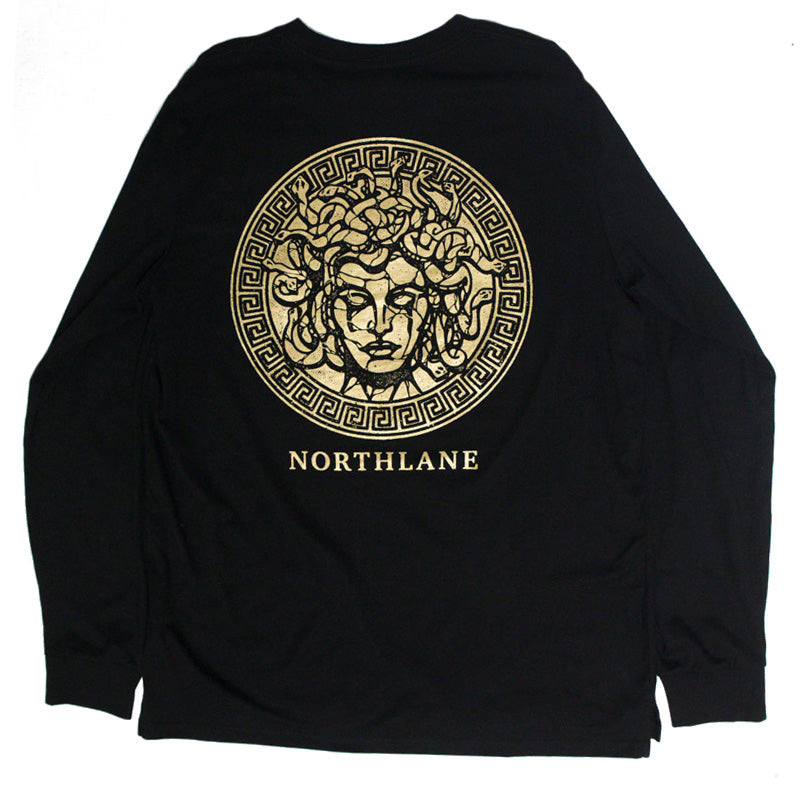 Medusa Longsleeve (Gold on Black)
