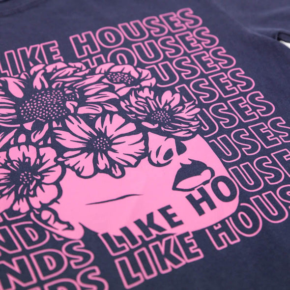 Hands Like Houses merch Flower Eyes Tee (Blue Acid wash)