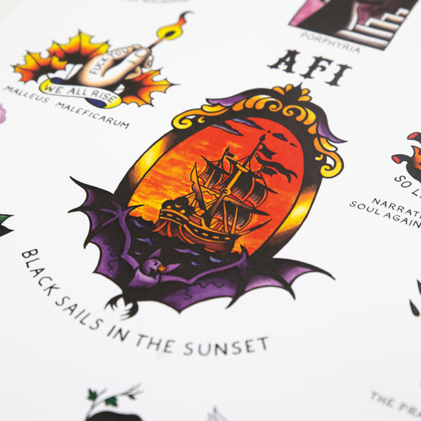 AFI Black Sails Flash Print