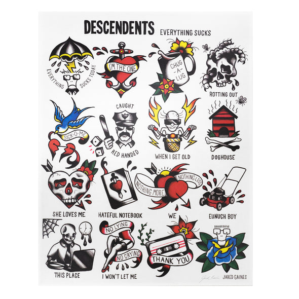 Descendents Everything Sucks Flash Print