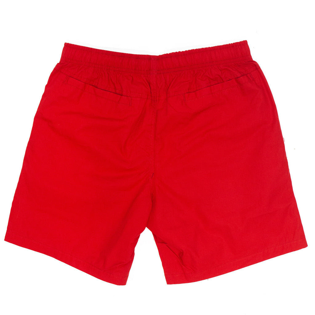 Liberty Head Embroidered Beach Shorts (Red)