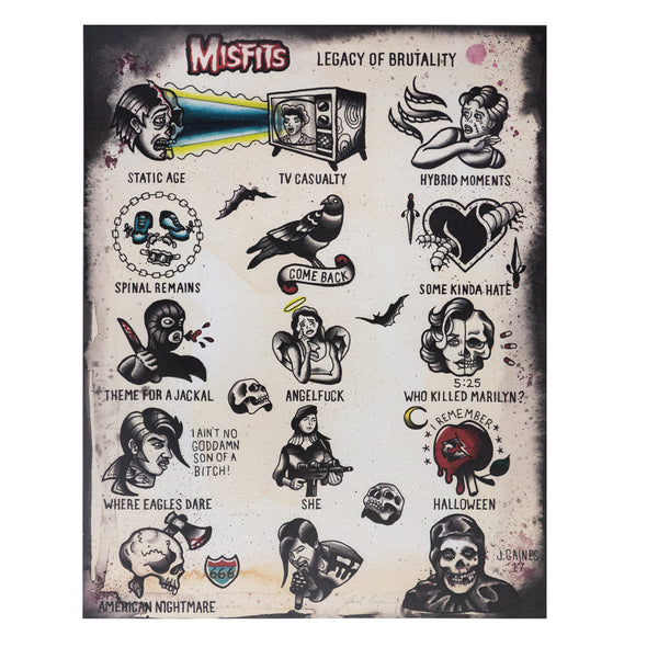 Misfits Tattoo Flash Print