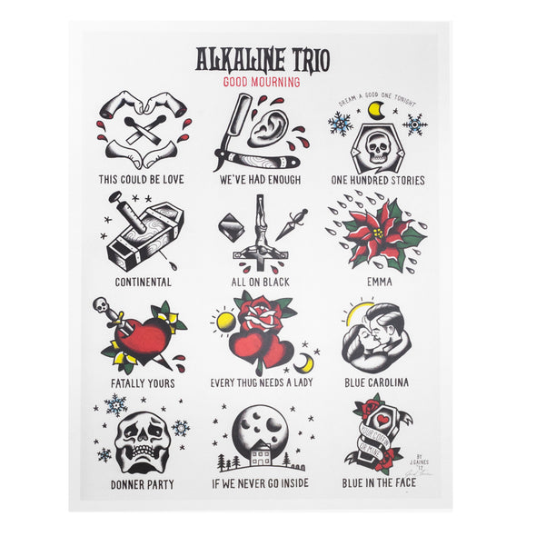 Alkaline Trio Good Mourning Flash Print