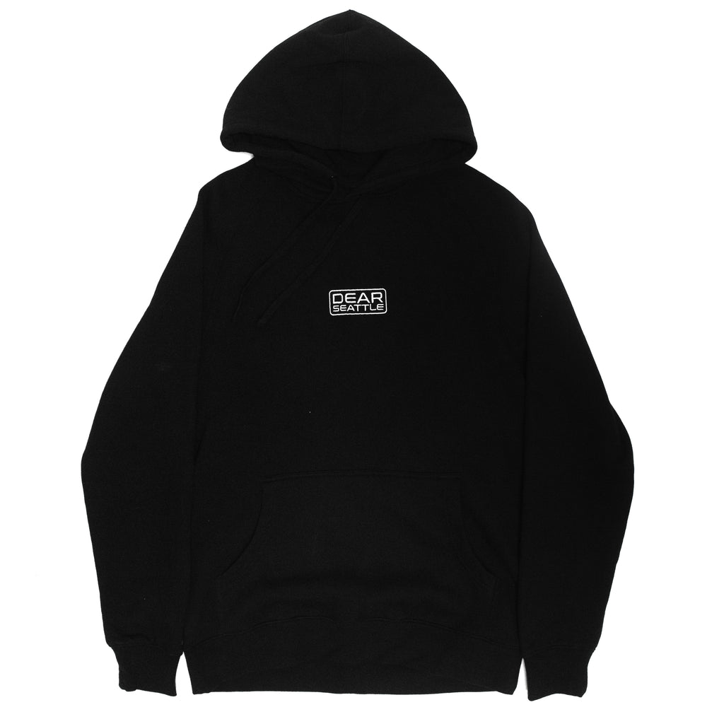 Logo Embroidered Hoodie (Black)