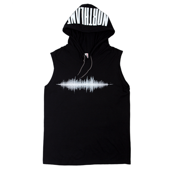 Waveform Sleeveless Hood (Black)