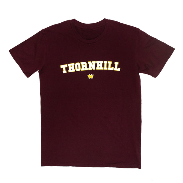 College Logo Tee (Burgundy)