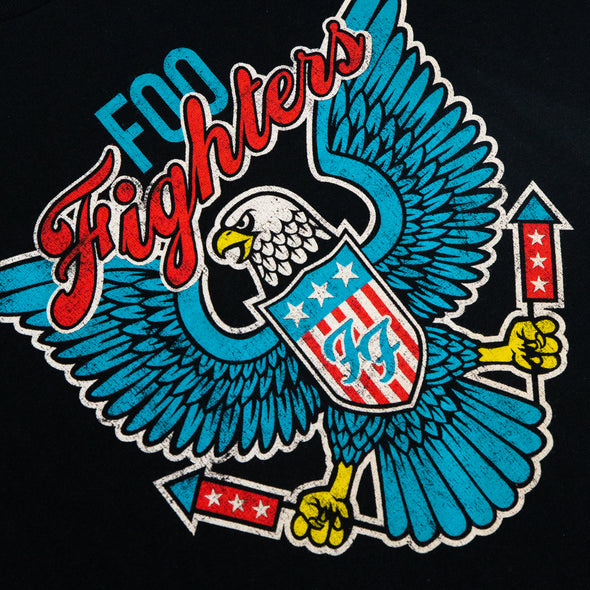 Foo Fighters // Blue Eagle Tee (Black)