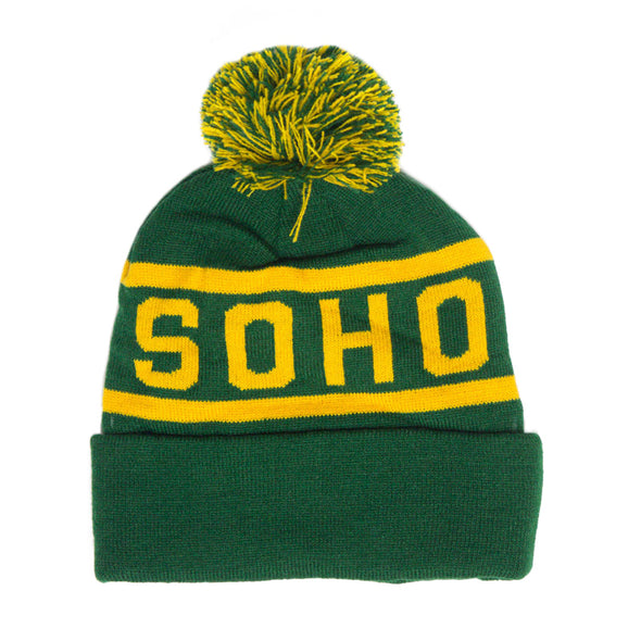 Soho Beanie (Green/Gold)