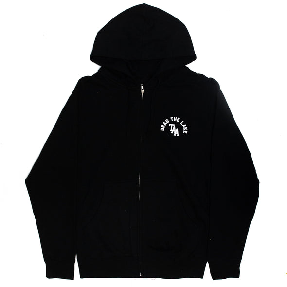Drag The Lake Zip Hoodie (Black)