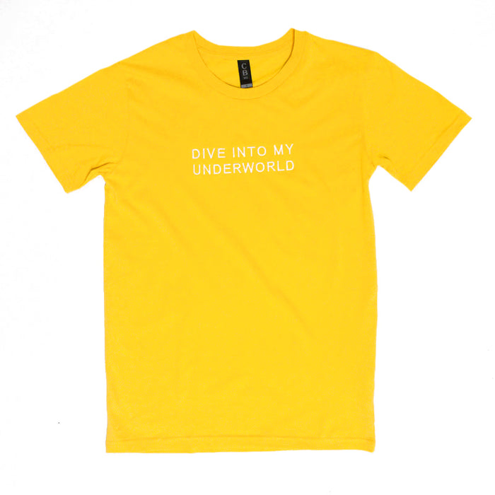 Dive Into Embroidered Tee (Yellow)