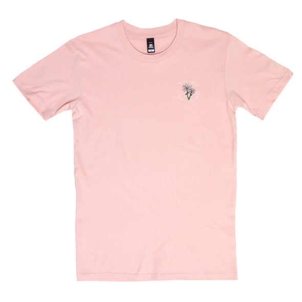 Strangely Embroidered Tee (Pink)