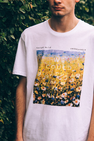 Flower Painting Tee (White)