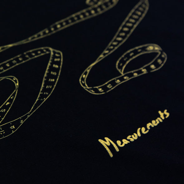 Measurements Tee (Black w/ Gold)