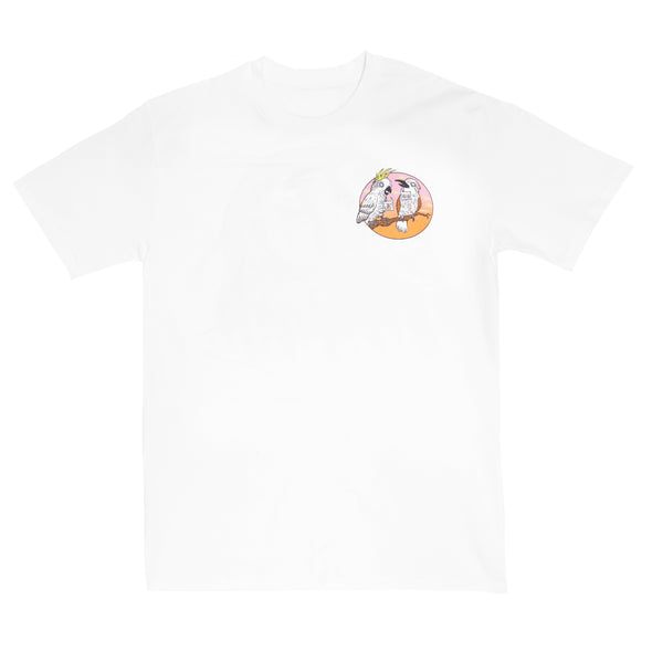 Kookaburra/Cockatoo Tee (White)