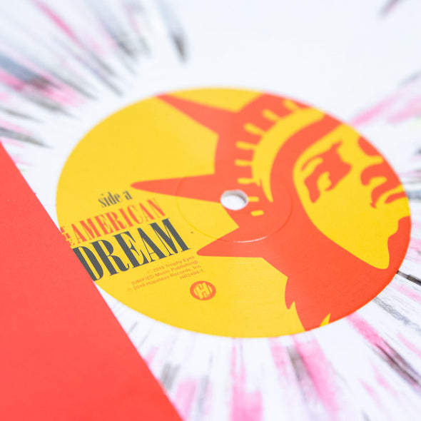 "The American Dream 12"" Vinyl (White with Black, Red and Yellow splatter)"