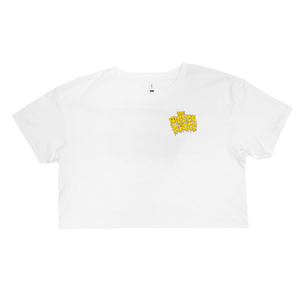 Melting Writing Crop Tee (White)