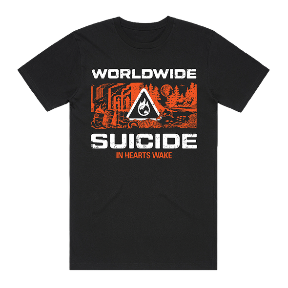 Worldwide Suicide Tee (Black/Orange) // PREORDER