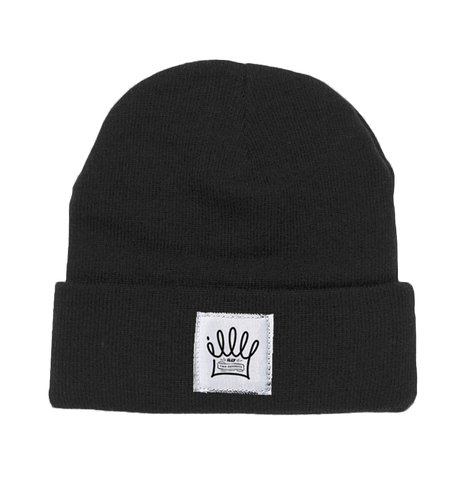 Illy Official Merch - Crown Beanie (Black)
