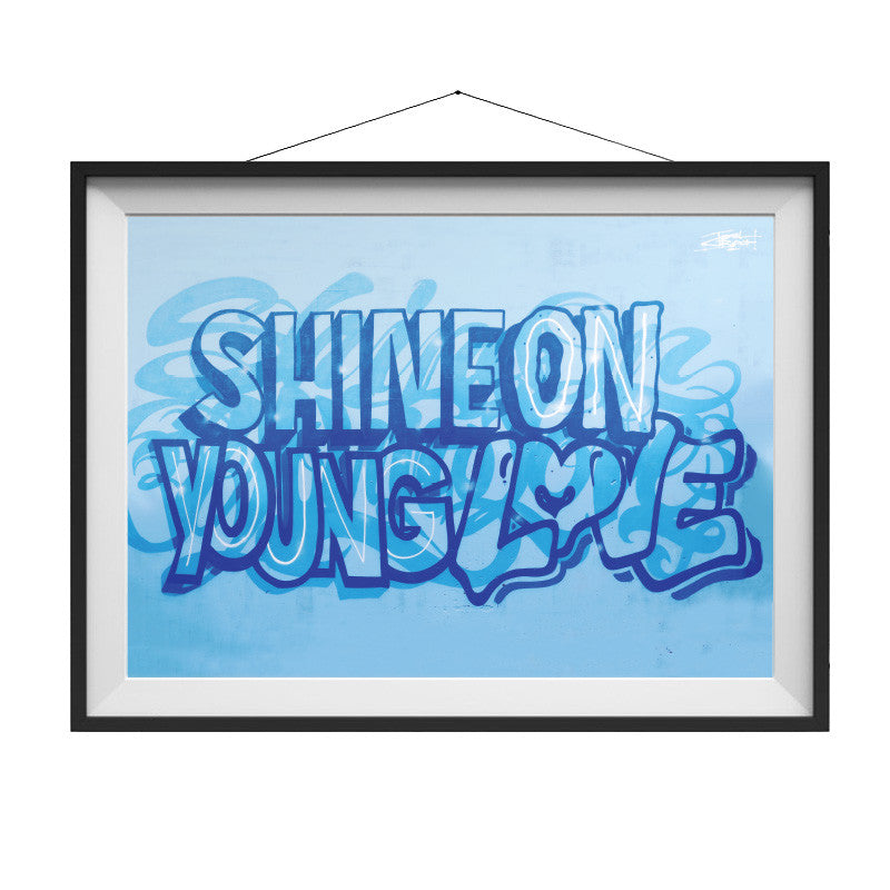 Shine On Young Love - A3 Poster