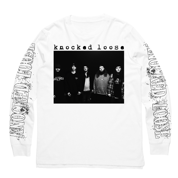 Knocked Loose Official Merch - KL Band Long Sleeve (White)