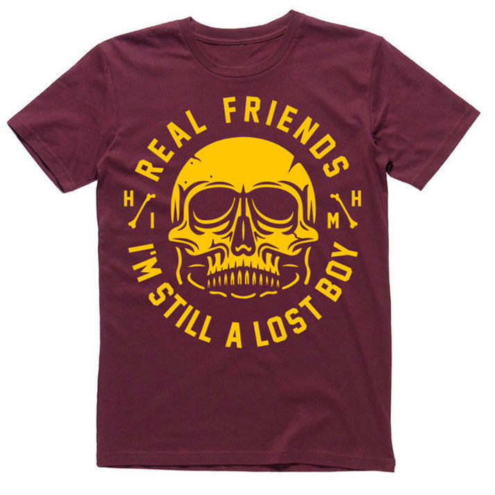 Real Friends Official Merch - Lost Boy Tee (Burgundy) (8064167107)