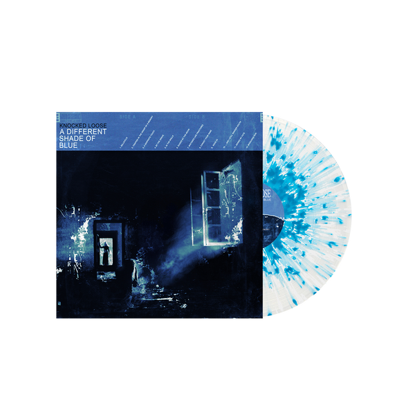 "A Different Shade of Blue 12"" Vinyl (Ultra Clear with Heavy Sea Blue & White Splatter)"