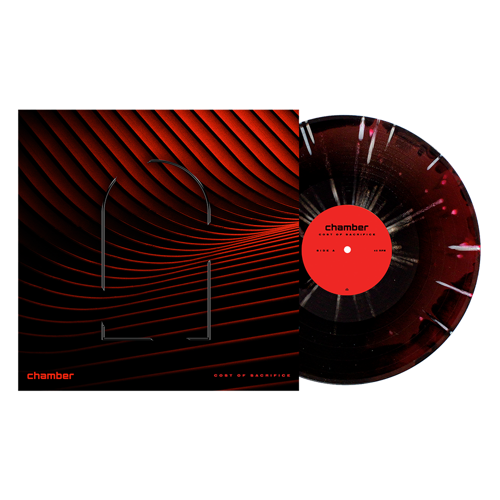 "Cost of Sacrifice 12"" Vinyl (Red(ish) & Black aside/bside with Heavy White Splatter) // PREORDER"