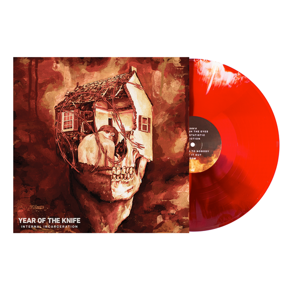 Internal Incarceration LP (Blood Red w/ Oxblood and Bone Twist) // PREORDER