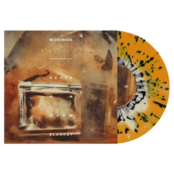 "Microwave // Death is a Warm Blanket 12"" Vinyl LP (Bone & Halloween Orange w/ Black Splatter)"
