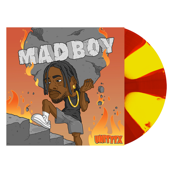 "MADBOY 12"" Vinyl (Highlighter yellow & Red(Ish) Pinwheel)"