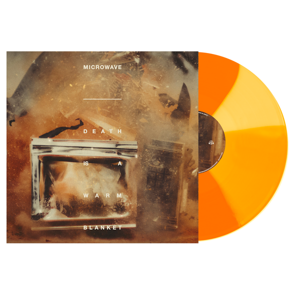 "Microwave // Death is a Warm Blanket 12"" Vinyl LP (Beer w/ Bone & Halloween Orange Twist)"