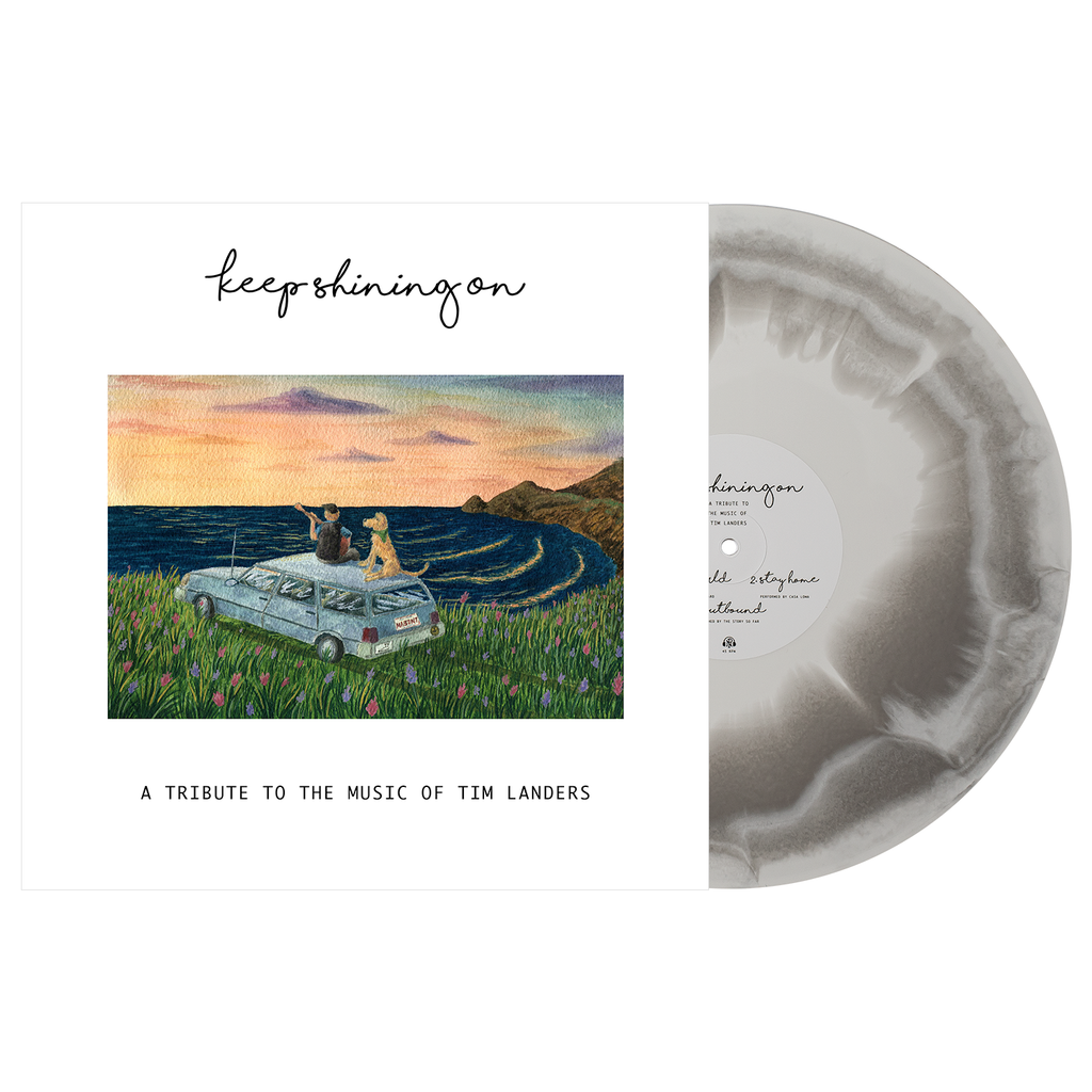 "Keep Shining On ""Keep Shining On ""A Tribute To The Music of Tim Landers"" 12"" Vinyl (White and Grey Aside/Bside)"