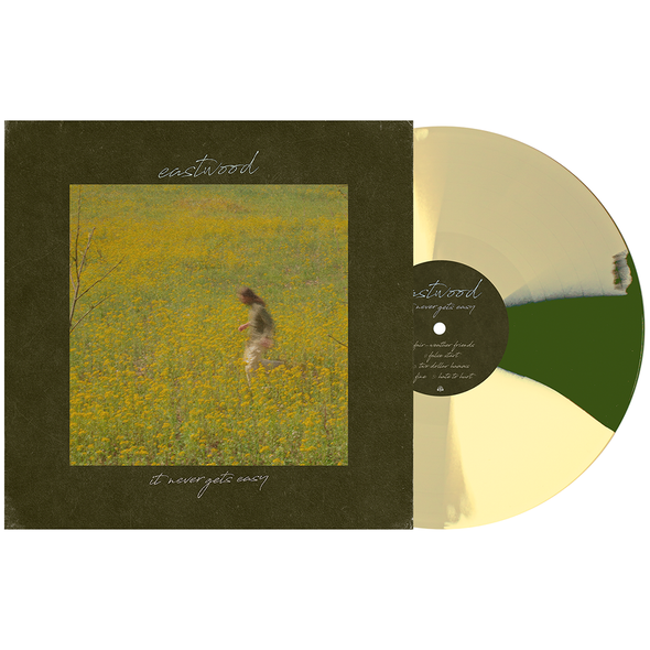 "It Never Gets Easy 12"" Vinyl (Bone, Swamp Green & Easter Yellow Twist) // PREORDER"