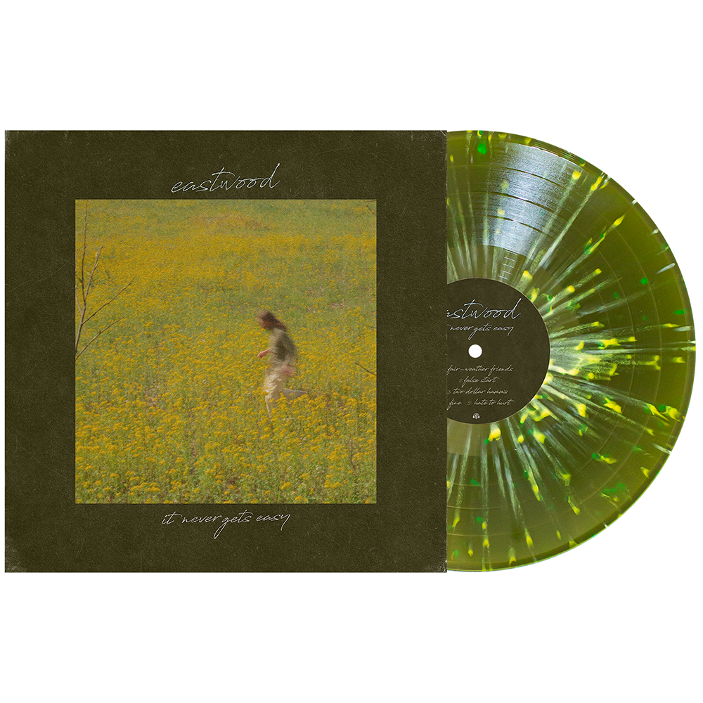 "It Never Gets Easy 12"" Vinyl (Swamp Green w/ Bone, Easter Yellow & White Splatter)"
