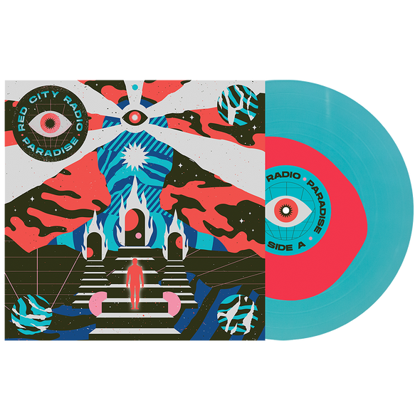 "Paradise 12"" Vinyl (Neon Pink in Electric Blue) // PREORDER"