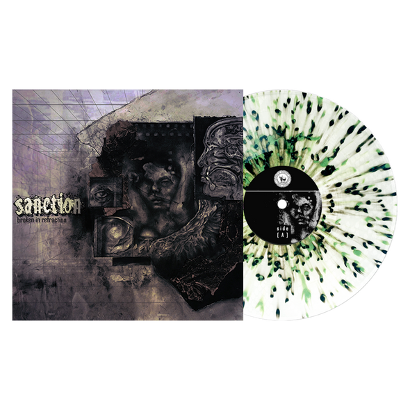 "Broken In Refraction 12"" Vinyl (Ultra Clear with Heavy Olive Green and Black Splatter) // PREORDER"