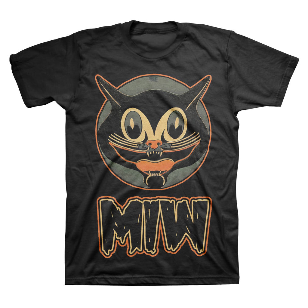 Motionless In White Official Merch - Smiling Cat (Black Tee)