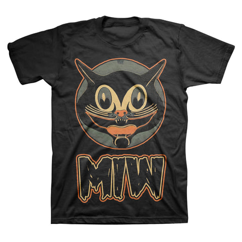 Smiling Cat (Black Tee)