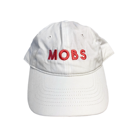 MOBS Logo Dad Hat (White)