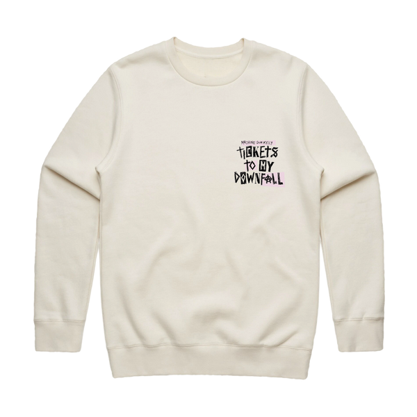 Tickets To My Downfall Crewneck (Natural)