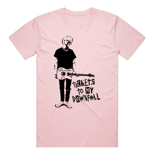Tickets To My Downfall Guitar Tee (Pink)