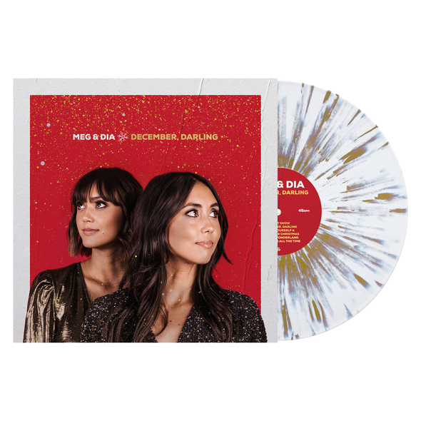 "December, Darling 12"" Vinyl (White w/ Heavy Gold Splatter)"