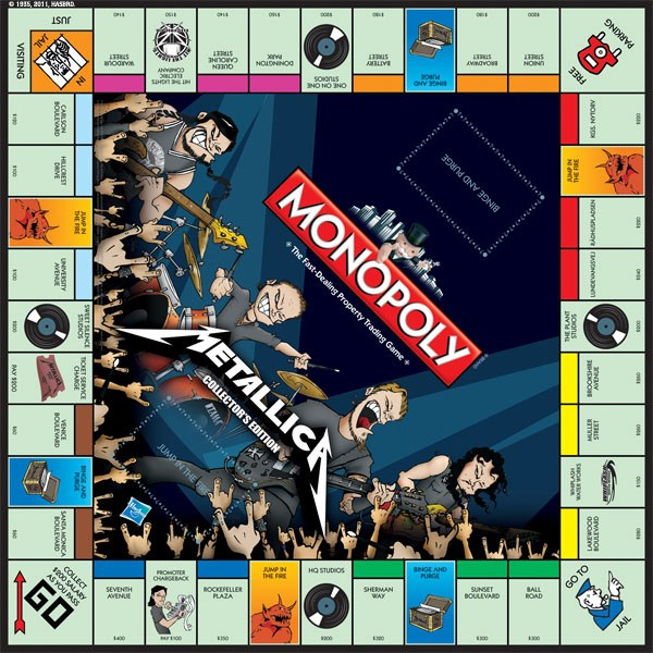 Monopoly Metallica Collectors Edition Board Game